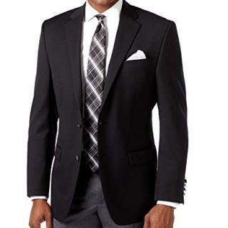 Michael Kors Black Solid Two Button Wool Blend New Men's Sport Coat