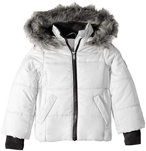 Calvin Klein Little Girls Puffer Jacket, Glacial White