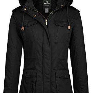 Wantdo Women's Warm Stylish Winter Coat with Removable Hood (Black,XL)