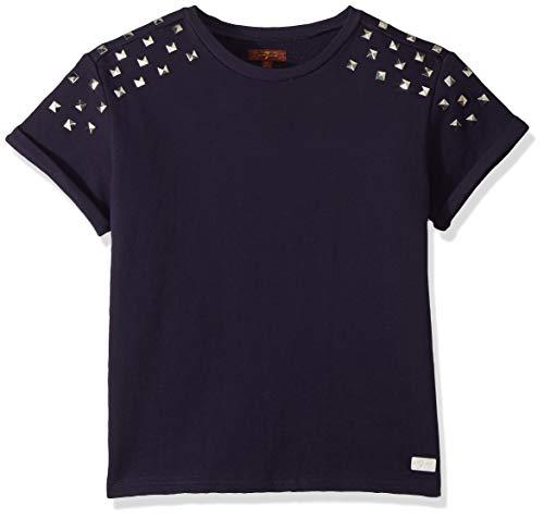 7 For All Mankind Girls' Big Cropped Short Sleeve Sweatshirt