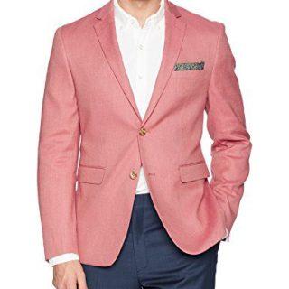Original Penguin Men's Slim Fit Blazer, Medium red Solid