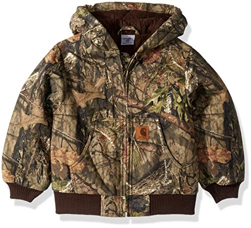 Carhartt Boys' Big Mossy Oak Camo Active Jacket, Browntree Print