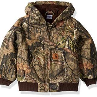 Carhartt Boys' Big Mossy Oak Camo Active Jacket, Browntree Print
