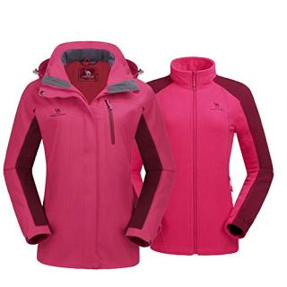 CAMEL CROWN Women's Ski Jacket Winter Jacket Waterproof