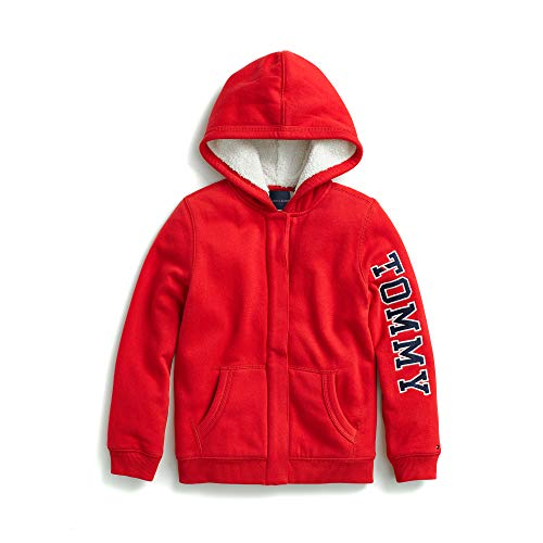 Tommy Hilfiger Girl's Adaptive Hoodie Sweatshirt with Magnetic Buttons