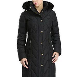 BGSD Women's Addi Waterproof Down Parka Coat Black Medium