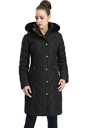 BGSD Women's Addi Waterproof Down Parka Coat Black Medium