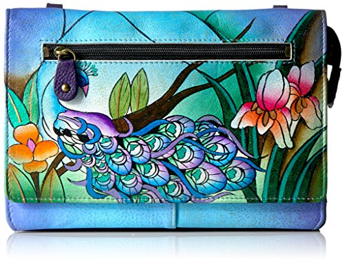 Anna by Anuschka Hand Painted Leather Organizer Wallet On String