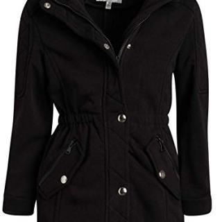 Urban Republic Girls Fleece Fur Hooded Jackett