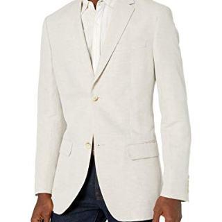 Perry Ellis Men's Suit Jacket, Natural Linen