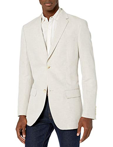 Perry Ellis Men's Suit Jacket, Natural Linen