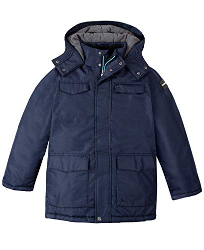 Calvin Klein Boys' Big Resonsance Military Jacket, Navy