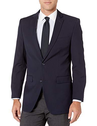 Perry Ellis Men's Slim Fit Blazer, Navy Hopsak