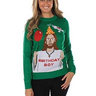 Tipsy Elves Women's Ugly Christmas Sweater - Happy Birthday
