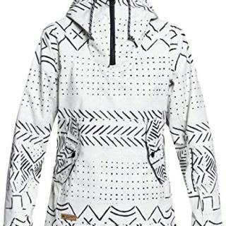 DC APPAREL Women's Skyline Snow Jacket, Silver Birch mud Cloth