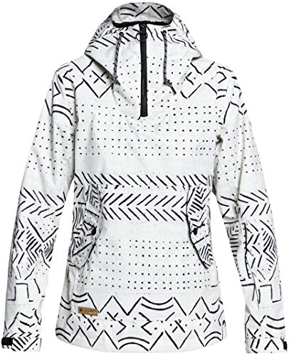 DC APPAREL Women's Skyline Snow Jacket, Silver Birch mud Cloth