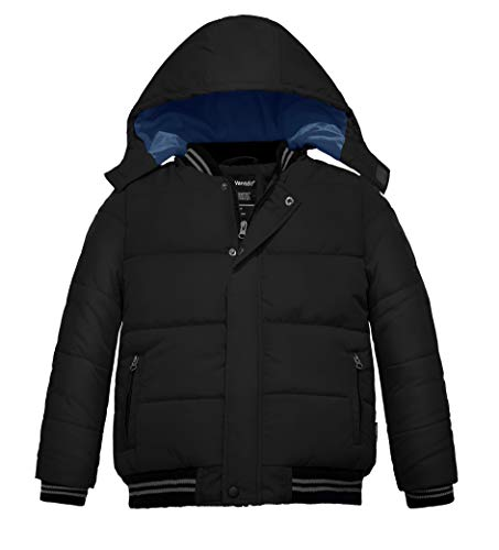 Wantdo Boy's Thick Warm Snow Coat Hooded Down Style Jacket