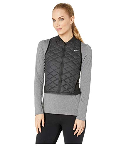 Nike Women's AeroLayer Running Vest Black/Atmosphere Grey