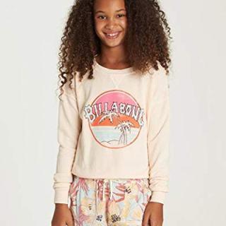 Billabong Girls' Sun Faded Sweatshirt Just Peachy Small
