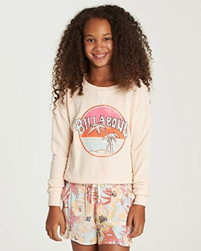 Billabong Girls' Sun Faded Sweatshirt Just Peachy Small