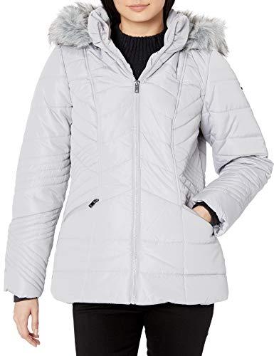 Skechers Women's Warm Winter Jacket with Faux Trimmed Hood