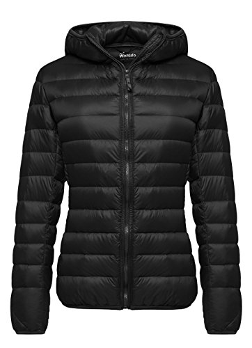 Wantdo Women's Hooded Packable Ultra Light Weight Down Coat