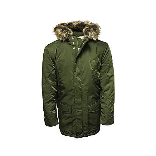 Ben Sherman Mens Vintage Hooded Parka Jacket Green