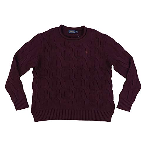 Polo Ralph Lauren Womens Rolled Crew Neck Cable Knit Sweater