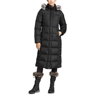 Eddie Bauer Women's Lodge Down Duffle Coat, Black Regular L
