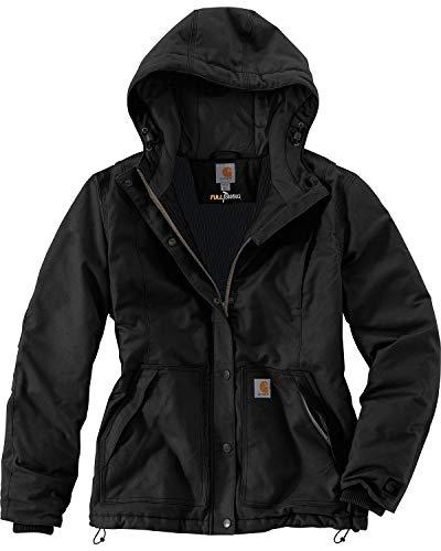 Carhartt Women's Full Swing Cryder Stretch Quick Duck Jacket, Black, S