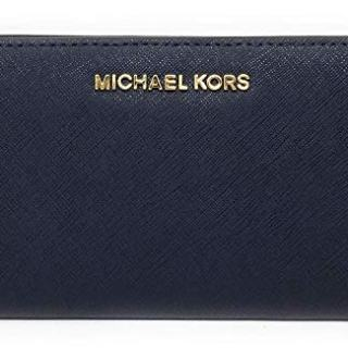 Michael Kors Jet Set Travel Slim Bifold Saffinao Leather Wallet