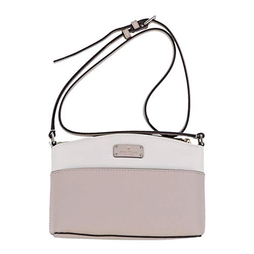 Kate Spade New York Millie Grove Street Leather Crossbody Shoulder Bag (Warm Beige/Cement)