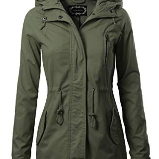 Instar Mode Women's Military Anorak Safari Hoodie Jacket