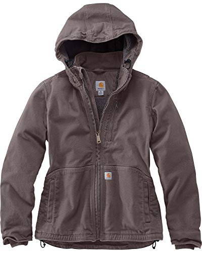 Carhartt Women's Full Swing Caldwell Jacket (Regular and Plus Sizes), Taupe Gray/Shadow, Small