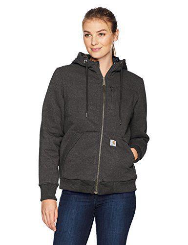 Carhartt Women's Rain Defender Rockland Quilt Lined Zip Hooded Sweatshirt