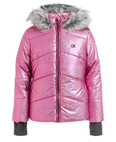Calvin Klein Toddler Girls' Metallic Puffer Jacket