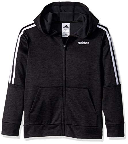 adidas Boys' Big Zip Front Hooded Jacket