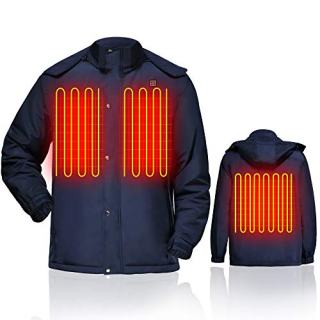 GLOBAL VASION Heated Jacket Battery Rechargeable for Men