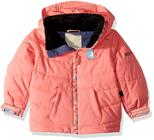 Roxy Girls' Toddler Anna Snow Jacket, Shell Pink