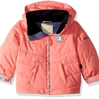 Roxy Girls' Toddler Anna Snow Jacket, Shell Pink