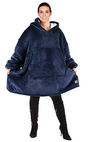 Catalonia Oversized Hoodie Blanket Sweatshirt,Super Soft Warm