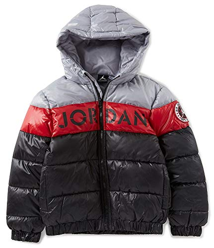 NIKE Air Jordan Colorblock Stripe Big Boys' Puffer Jacket