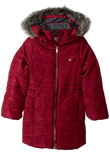 Calvin Klein Little Girls' Long Puffer Jacket