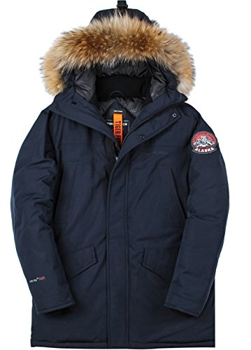 TIGER FORCE Mens Parka Jacket Waterproof Cotton Quilted Coat Winter
