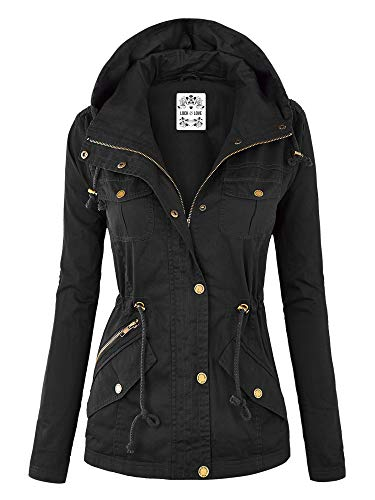 Lock and Love Womens Pop of Color Parka Jacket