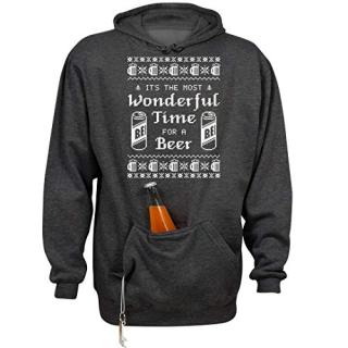 Wonderful Xmas Beer Time: Unisex Beer Holder Tailgate Hoodie