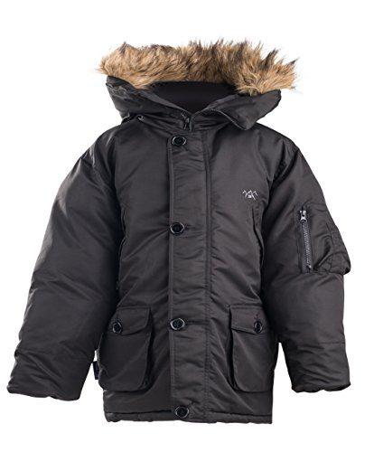 The Polar Club Boys' Parka Winter Coat W/Removable Fur Snorkel Jacket