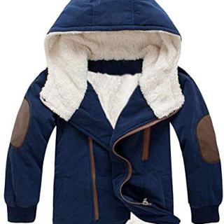Baby Boys Girl Hooded Fleece Down Kids Outerwear Cotton-Padded Parka