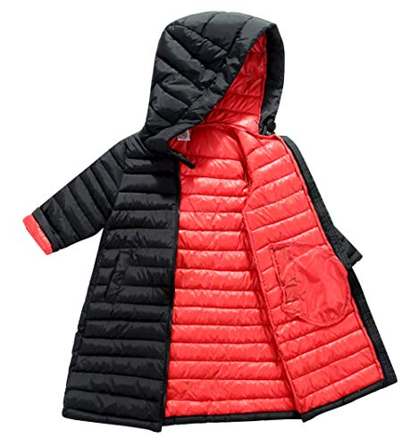 Baby Windproof Down Coat Gilrs Windproof Solid Winter Warm Parka