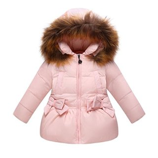 FREE FISHER Baby Boys Girls Bowknot Hooded Snowsuit Winter